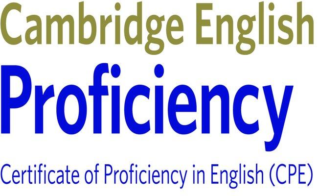 Изображение на емблемата на сертификата Cambridge English: Proficiency (CPE), който присъства в нашата сертификатна подготовка в езикова академия Интелекти Велико Търново.