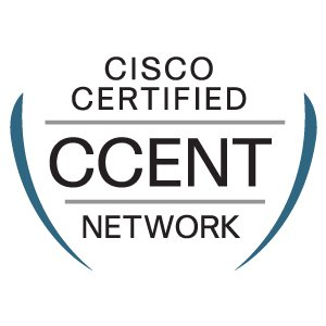 A photo of Cisco CCENT certificate that validates the skills required for entry-level network support positions, the starting point for many successful careers in networking.