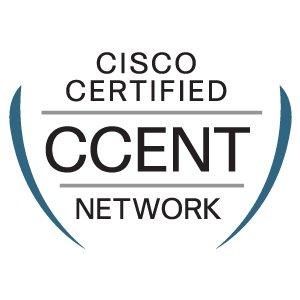 Снимка на сертификата Cisco CCENT, който показва че притежавате основните знания и умения на мрежов специалист.
