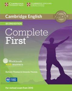 Снимка на учебната система Complete First, която се използва в курсовете за подготовка за Cambridge English: First в езикова академия Интелекти - Велико Търново.