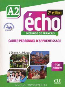 Снимка на учебника Echo A2, по който се обучава в нашите курсове по френски език в езикова академия Интелекти - Велико Търново.