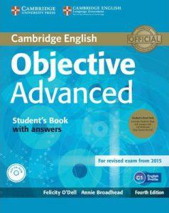 Учебната система Objective Advanced, по която се учи за подоговка за сертификата Cambridge English: Advanced (CAE)