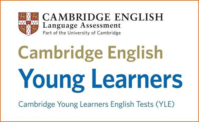 Емблема на сертификата Cambridge English: Young Learners (YLE),който присъства в нашата сертификатна подготовка.