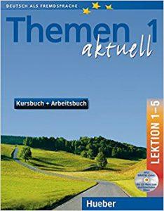 Снимка на учебника Themen aktuell 1, който езиков център Интелекти използва в своите курсове и уроци по немски език.