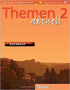 Снимка на учебника Themen aktuell 2, който езиков център Интелекти използва в своите курсове и уроци по немски език.